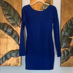 Blue Long Sleeve Dress